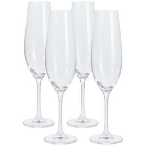 4 részes pezsgőspohár készlet, 260 ml