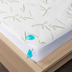 4Home Bamboo körgumis vízhatlan matracvédő, 90 x 200 cm + 30 cm, 90 x 200 cm