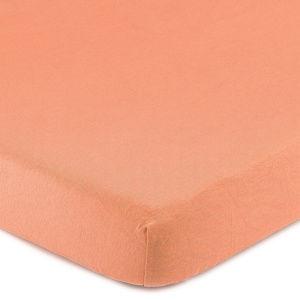 4Home Jersey lepedő elasztánnal lazacszínű, 180 x 200 cm