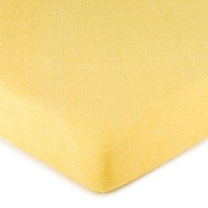 4Home frottír lepedő sárga, 90 x 200 cm