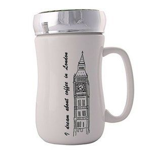 Altom London porcelánbögre fedéllel, 400 ml