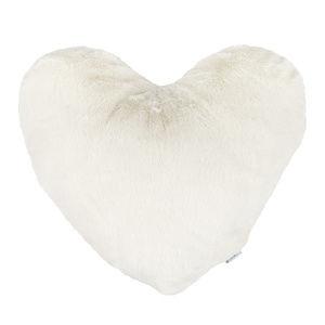 Altom Szív párna, krémszínű, 40 x 40 cm