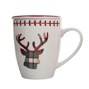Altom Victoria Red Deer fedeles porcelánbögre300 ml