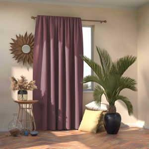 AmeliaHome Blackout Oxford Pleat függöny, mauve, 140 x 245 cm