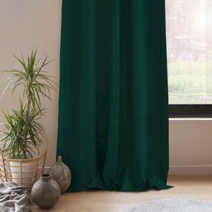AmeliaHome függöny Blackout EYELETS, sötétzöld, 140 x 245 cm