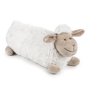 BO-MA Trading Bárányka kispárna hosszú fehér, 48 x 18 cm