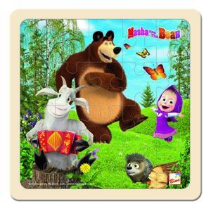 Bino Puzzle, Mása és a medve kecskével, 15 x 15 cm