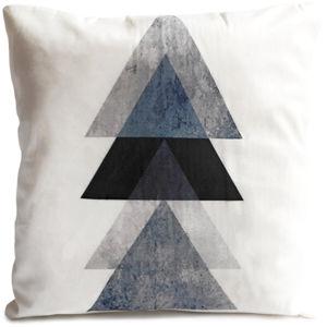 Black Háromszögek párna, 40 x 40 cm