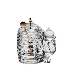 Bohemia Crystal Mackó üvegedény mézre