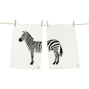 Butter Kings Zebra konyharuha, 50 x 70 cm, 2 db-os szett