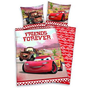 Cars Friends Forever gyermek pamut ágynemű, 140 x 200 cm, 70 x 90 cm