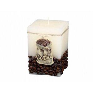Coffee Bag Dekoratív gyertya bézs, 10 cm