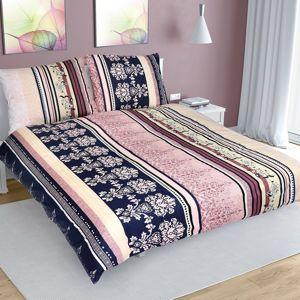 Csíkos pamut ágynemű, színes, 220 x 200 cm, 2 db 70 x 90 cm, 220 x 200 cm, 2 db 70 x 90 cm