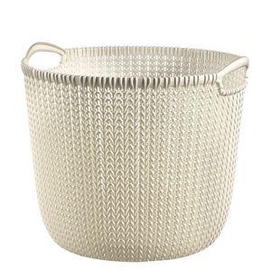 Curver 03675-X64 Knit kerek kosár 30 l, krém