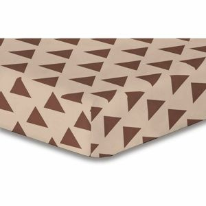 DecoKing Triangles lepedő, barna S1, 90 x 200 cm, 90 x 200 cm