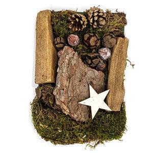 Dekor potpourri mohával, tobozokkal és fával 150 g, natúr