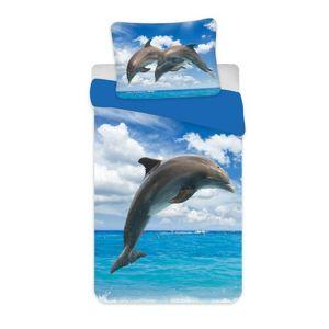 Delfin 02 gyermek pamut ágynemű, 140 x 200 cm, 70 x 90 cm