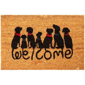 Dog Welcome kókusz lábtörlő, 40 x 60 cm