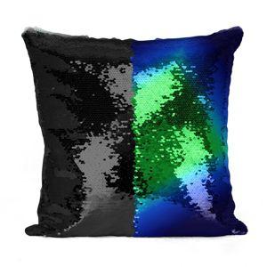Domarex flitteres párnahuzat, Flippy, kék, 40 x 40 cm