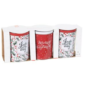 Excellent Houseware Merry Christmas fémdobozok, 3 db