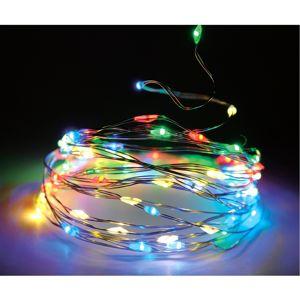 Fényfüzér, színes, 80 LED-es
