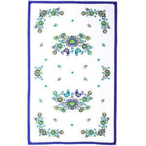 Folklór törlőruha, kék, 45 x 70 cm, 3 db-os szett