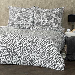Geometric pamut ágynemű, 220 x 200 cm, 2 db 70 x 90 cm, 220 x 200 cm, 2 db 70 x 90 cm