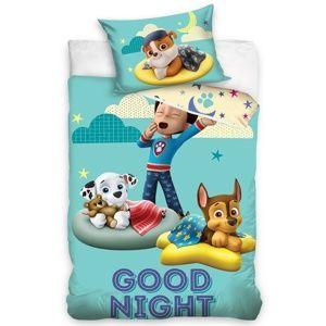 Gyermek pamut ágynemű kiságyba, Mancs őrjárat, Good Night, 100 x 135 cm, 40 x 60 cm