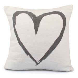 Dakls Heart párnahuzat fehér, 40 x 40 cm