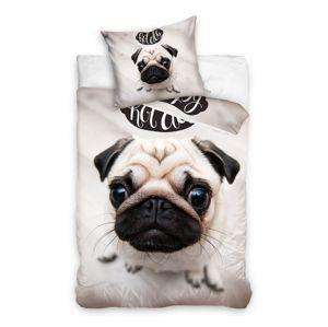 Hot Dog Mops kutyus gyermek ágynemű, 140 x 200 cm, 70 x 90 cm