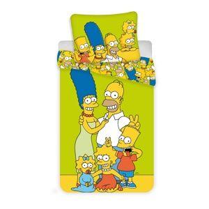 Jerry Fabrics Simpsons gyermek pamut ágynemű, 140 x 200 cm, 70 x 90 cm