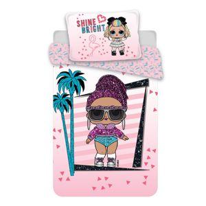 Jerry Fabrics gyermek pamut ágynemű LOL 02 pink, 140 x 200 cm, 70 x 90 cm