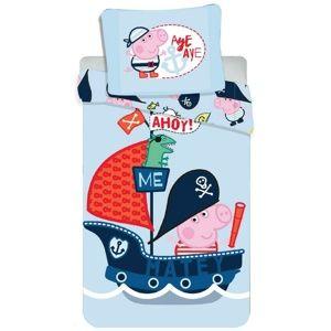 Jerry Fabrics gyermek pamut ágynemű, Peppa Pig 031, 140 x 200 cm, 70 x 90 cm