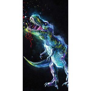 Jerry Fabrics törölköző Dinosaur Black, 70 x 140 cm