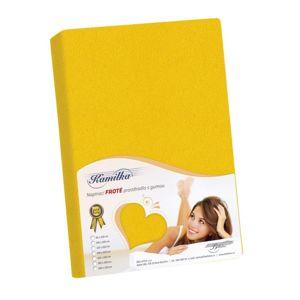 Kamilla frottír lepedő, sárga, 180 x 200 cm, 180 x 200 cm