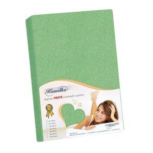 Kamilla frottír lepedő, zöld, 90 x 200 cm, 90 x 200 cm