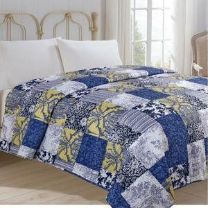 Kékmintás ágytakaró, 220 x 240 cm