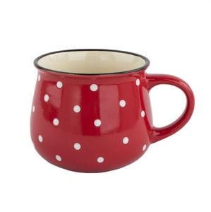 Kerámia bögre Dots 770 ml, piros