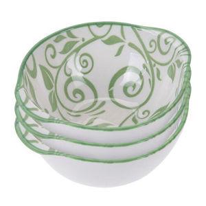 Koopman 3 részes porcelántál készlet, zöld