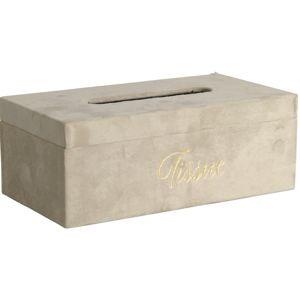Koopman Palmeira zsebkendőtartó doboz, bézs