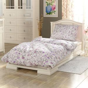 Kvalitex Provence Beáta pamut ágynemű, lila, 140 x 200 cm, 70 x 90 cm