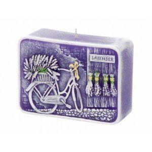 Lavender Kiss Dekoratív gyertya, hasáb