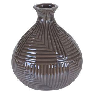 Loarre váza, barna, 12,5 x 14,5 cm