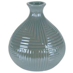 Loarre váza, zöld, 12,5 x 14,5 cm