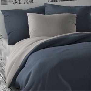 Luxury Collection szatén ágynemű, világosszürke/sötétszürke szürke, 140 x 220 cm, 70 x 90 cm, 140 x 220 cm, 70 x 90 cm