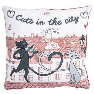 Macskák a városban kispárnahuzat, 40 x 40 cm