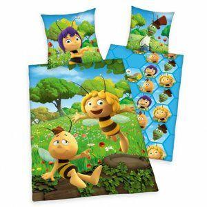 Maja, a méhecske gyermek pamut ágynemű kiságyba, 100 x 135 cm, 40 x 60 cm