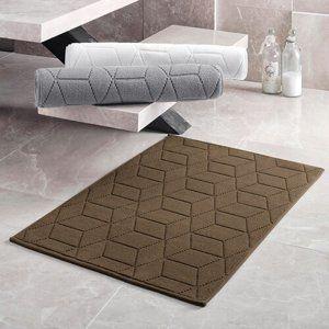Matějovský márkájú Adria fürdőszobaszőnyeg, sötétbarna, 50 x 80 cm