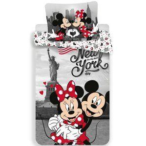 Mickey and Minnie in New York gyermek pamut ágynemű, 140 x 200 cm, 70 x 90 cm