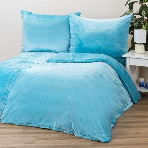 Mikroplüss ágynemű, kék, 140 x 200 cm, 70 x 90 cm